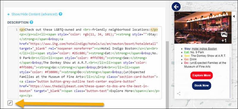 html map editor