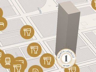 Neighborhood guide for an office building for lease